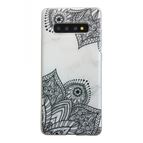 Samsung Galaxy S10 Marmor Spets Lace Henna Marble